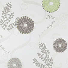 Coloroll Girona Wallpaper Chocolate Lime M0349