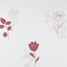 Coloroll Tribeca Wallpaper Ruby Red M0346
