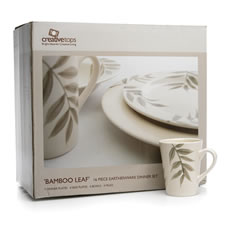 Creative Tops Bamboo Leaf Dinner Set 16pce