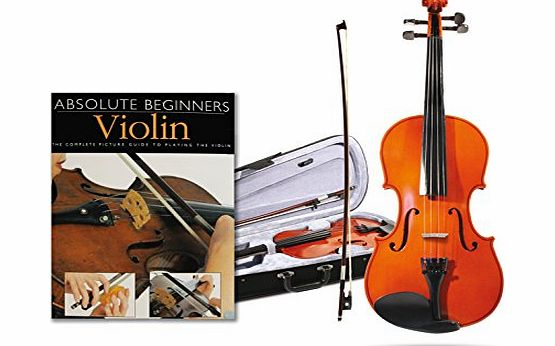 Windsor Quarter 1/4 Size Violin Package With Absolute Beginners Guide Book