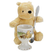 Winnie The Pooh Egg Cup, Spoon And Soft Toy Gift
