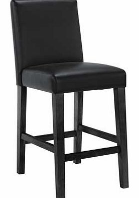 Winslow Black Leather Effect Bar Stool