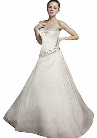 WitBuy Sweetheart Beading Taffeta A-line Chapel Train Bridal Gown