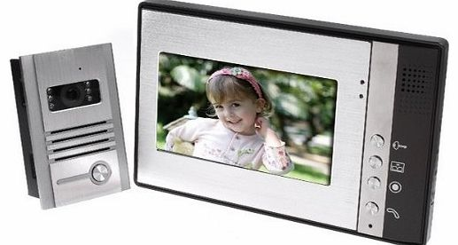 NEW 7 INCH VIDEO DOOR PHONE INTERCOME MONITOR ENTRY & ACCESS CONTROL SYSTEM