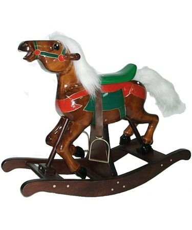 Wooden Carousel Rocking Horse