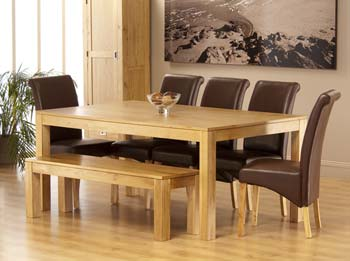 finish american oaksizes table w190cm x d100cm x h78cmchair w48cm x