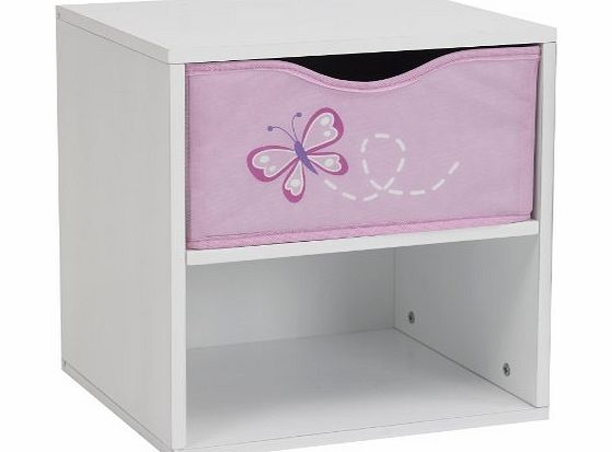 GIRLS GENERIC BUTTERFLY DREAMS BEDSIDE TABLE KIDS CHILDREN BEDROOM FURNITURE