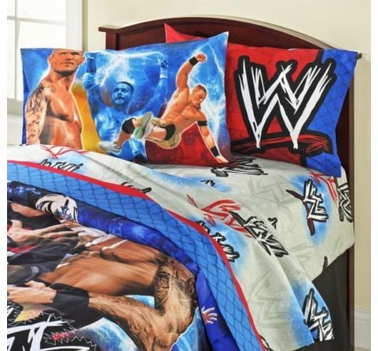 Wrestling Champions Double Bed 4-Piece Sheet Set(No duvet cover included)
