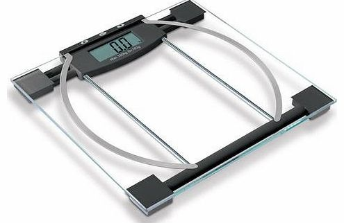 Xett Body Fat Monitor Scales - Glass&Metal Bathroom Scales, 180kg capacity - BATTERIES INCLUDED!