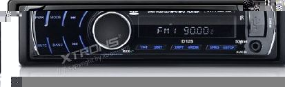 Xtrons D12S In-dash One Din Car Stereo Detachable Panel CD/MP3 DVD Player