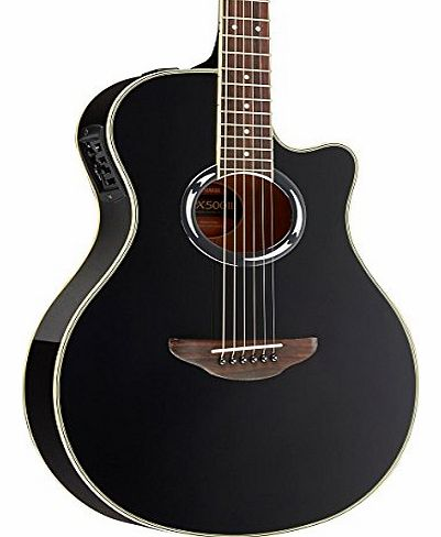 APXIII Thinline Acoustic-Electric Guitar - Black