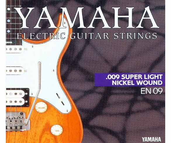Yamaha EN 09 Set of Electric Guitar Strings - Super-Light