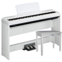 P105 Digital Piano White with Stand Pedal