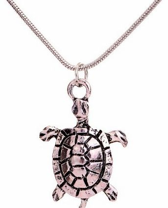 Yazilind Jewellery Vintage Tibetan Silver Tortoise Pandent Necklace Clothes for women
