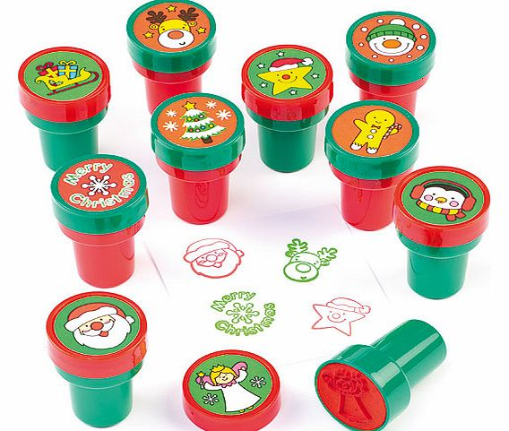 Christmas Self-Inking Stampers - Pack of 10
