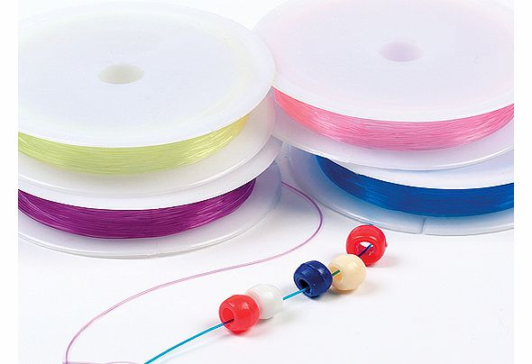 Coloured Stretchy Cord - Pack of 4 reels