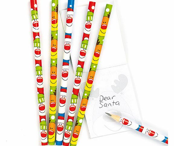 Festive Friends Pencils - Pack of 6