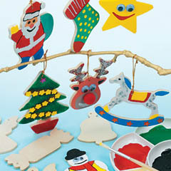 Christmas Wooden Tree Decorations