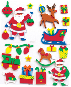 Handmade Christmas Foam Card Toppers