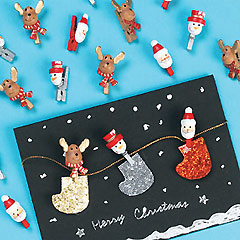 Mini Wooden Christmas Pegs