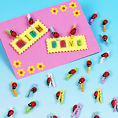 Mini Wooden Ladybird Pegs