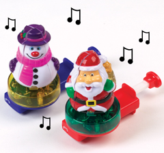 Musical Christmas Light-up Spinners