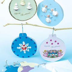 Pearlised Hanging Bauble Card Blanks
