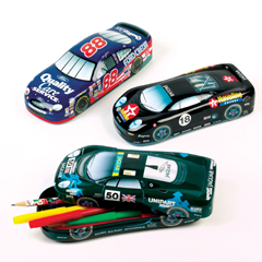 Racing Car Pencil Tins