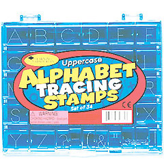 Upper Case Alphabet Tracing Stamps