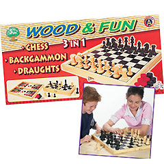 Wooden 3-in-1 Games Set