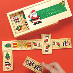Wooden Christmas Dominoes