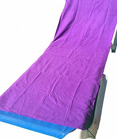 YISAMA MICROFIBER LOUNGE TOWEL FOR BEACH AND POOL PURPLE COLOR