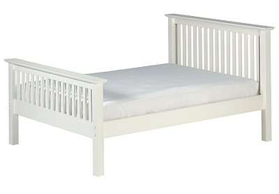 Cameo white shaker style double bed for White shaker bedroom furniture