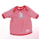 Baby Born Night Time Set Red and White Striped Dress