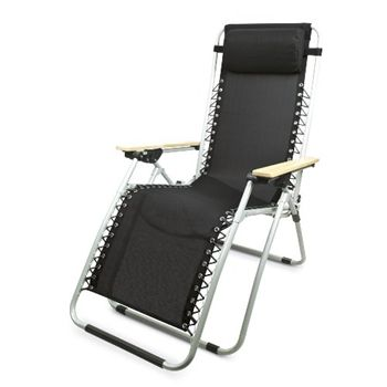 Gravity Deck Chair Black - Return