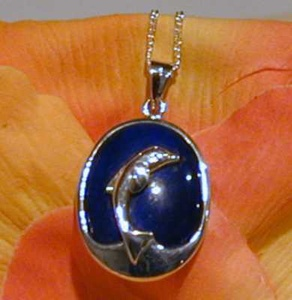 Sterling Silver Dolphin Pendant by
